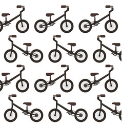 mountain bicycle pattern background vector image