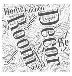 Shopping for home decor has never been easier word vector