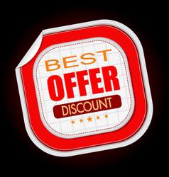 best offer stick sale vector image