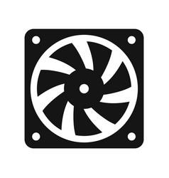computer cooler black icon vector image