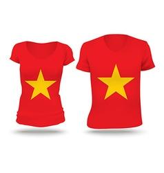 Flag shirt design of Vietnam vector image vector image