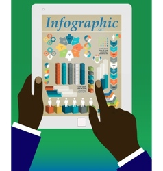 Graphs and charts being demonstrated vector image vector image