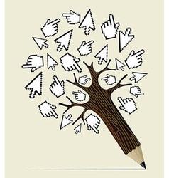 Internet activity concept tree vector image vector image