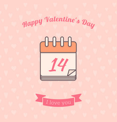 14 date calendar st valentine day holiday vector