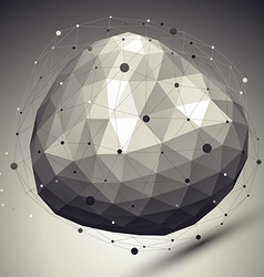 3D shaded modern complicated abstract background vector