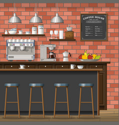A classic coffee shop vector