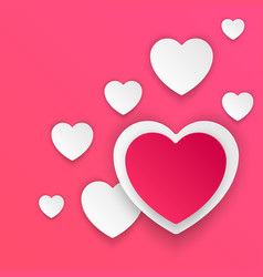 Abstract paper hearts valentines day abstract 3d vector