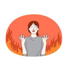 Anger evil furious woman concept vector