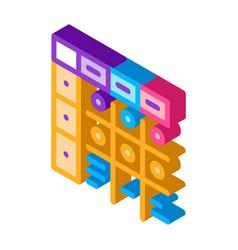 Apgar score newborn isometric icon vector