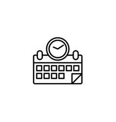 appointment icon vector image