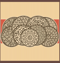 Asian ornamental card vector