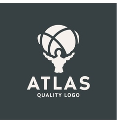 atlant atlas holds earth quality stylized logo vector image