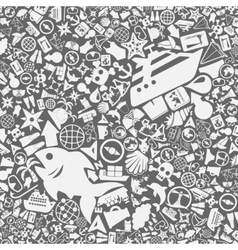 background of the sea icons vector image