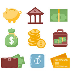 banking elements infographic icons vector image