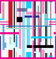 beautiful geometric pattern different stripes vector image