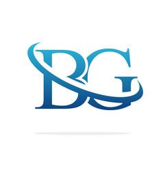 Bg logo art icon design image vector