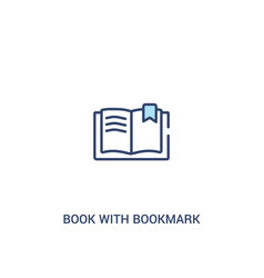 Book with bookmark concept 2 colored icon simple vector