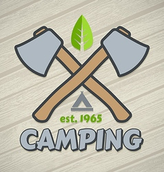 Camping symbol vector image