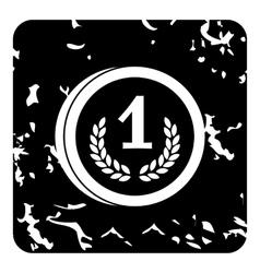 Coin icon grunge style vector