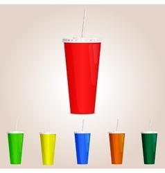Colored Paper cup vector image