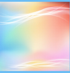 Colorful bright abstract light swoosh line layout vector