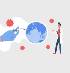 coronavirus global vaccination stop viral vector image