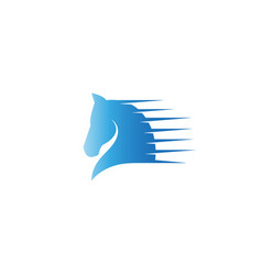 creative abstract speed horse logo design symbol vector image