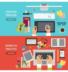 Creative process search and analysis concept set vector