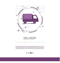 delivery service truck web banner with copy space vector image