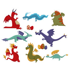 dinosaur dino difference prehistoric animals vector image