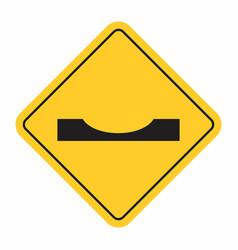 dip traffic sign vector image