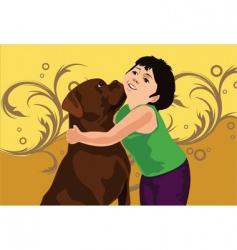 Dog love vector