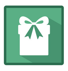 emblem box with ribbon bow icon vector image