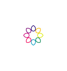 Flower logo icon symbol eps10 vector