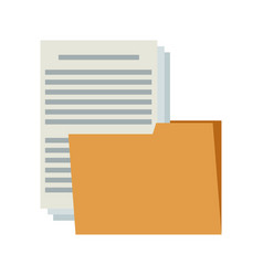 folder file document paper information internet vector image