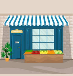 food shop facade in retro style vector image