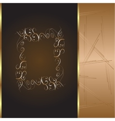 frame and border with gold pattern vector image