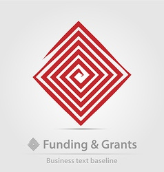 Funding and grants agency business icon vector