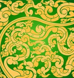 Gold art pattern vector