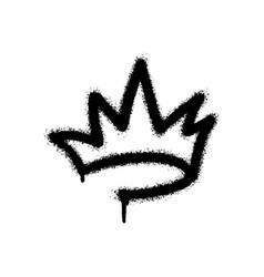 graffiti spray crown icon with over spray vector image