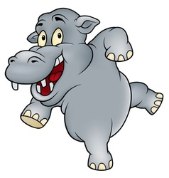 happy hippo vector image