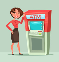 Happy smiling bank consultant manager woman vector