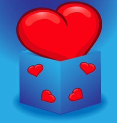 Heart in a box vector image vector image