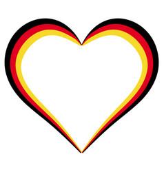 heart shape flag germany i love germany vector image