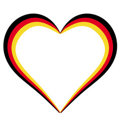 heart shape flag of germany i love germany vector image