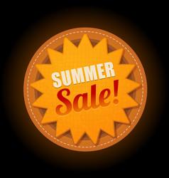 Hot summer sale sun sticker symbol sign vector
