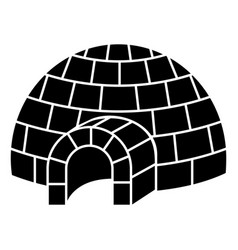 igloo icon simple style vector image