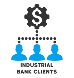 Industrial Bank Clients Icon With Caption vector