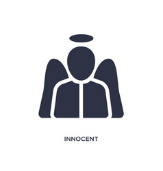 Innocent icon on white background simple element vector
