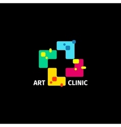 Isolated abstract colorful cross logo Medical vector